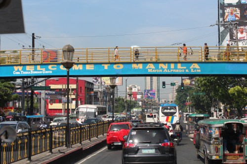 Welcome to Manila, EDSA, Metro Manila, Philipppines