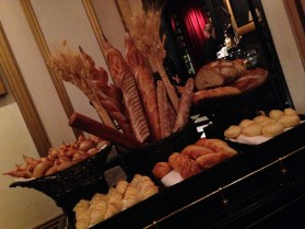 Bread assortment. Joel Robuchon. Photo by Rosemary Nickel, Motivating Other Moms.