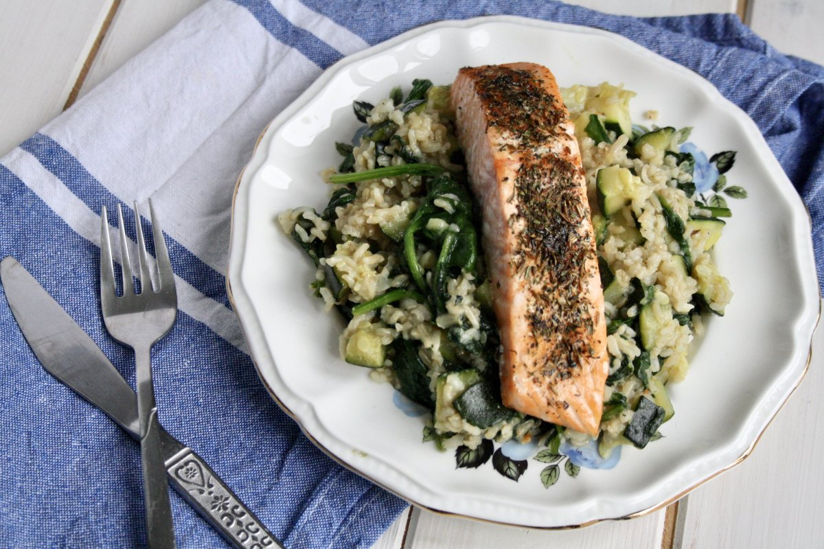 Zahtar Spiced Salmon with Hello Fresh's Flavour Generator