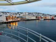 View from my balcony at the hotel in Tromsø