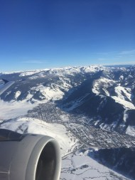 View from air of Jackson, WY