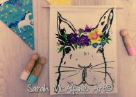 bunny flower banner