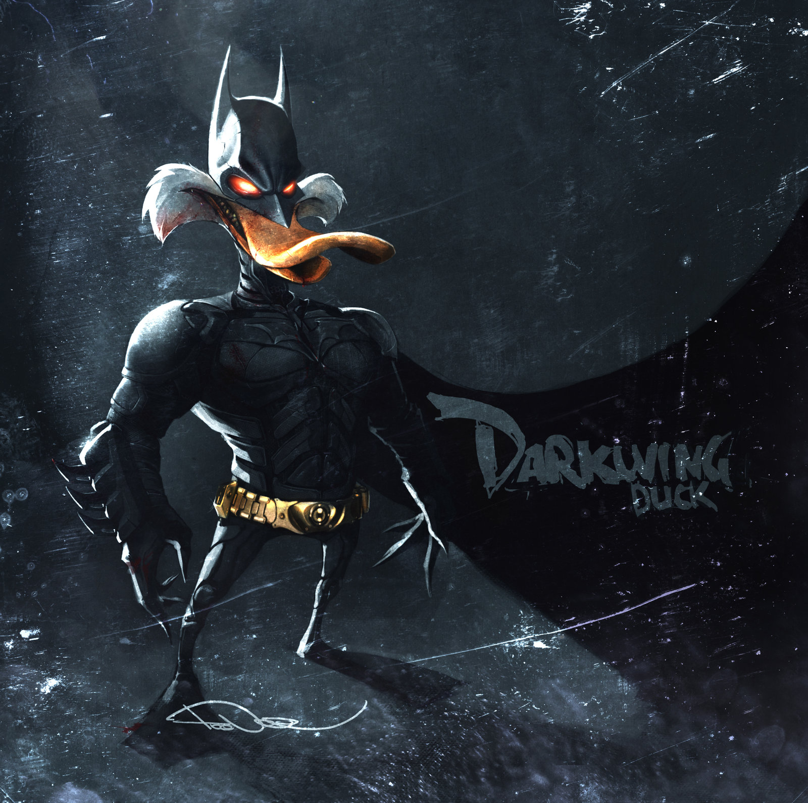 Darkwing is Batman now. By tooDeee on DeviantArt.