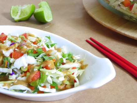 Crunchy Thai Salad with an AMAZING Peanut Dressing