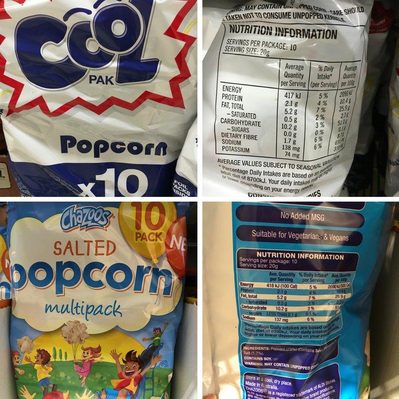Coolpak Popcorn vs Aldi Popcorn