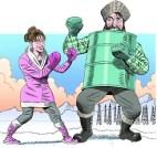 Sarah Palin vs Alaska Establishment Cartoon