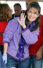 Sarah waving at Anchorage picnic