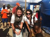 Bristol and Cissie Lynch at Samaritan's Purse shelter in Haiti