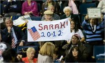 Sarah 2012 banner in crowd