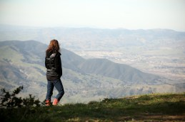 Sarah looking out over canyon at Reagan Ranch