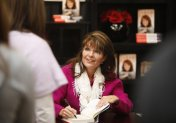 Sarah signing book at Dillons in Andover KS