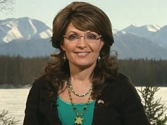 Sarah with mountain backdrop from Hannity show 03-17-10