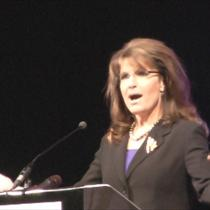 Closeup of Sarah speaking in Tupelo Mississippi - October 2011