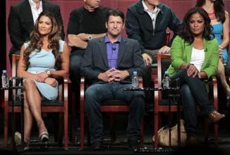 "Torres, Palin and Ali attend a panel for ""Stars Earn Stripes"" during the NBC television network portion of the Television Critics Association Summer press tour in Beverly Hills"