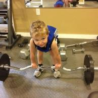 Tripp Pretending to Lift Weights