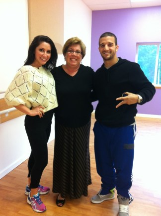 Bristol and Mark and Sonya for DWTS rehearsal