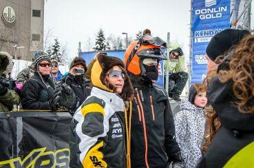 Todd and Sarah pose for photo after Iron Dog Race 2013