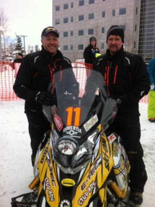 Todd and Scott after Iron Dog Race 2013