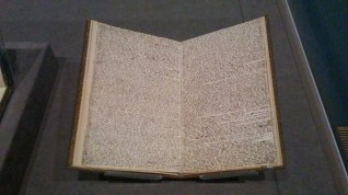 """Branwell's manuscript titled """"Angria and the Angrians"""". Look at that teeny tiny writing!"""