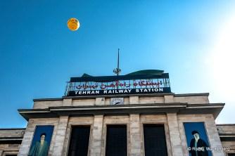 Haupteingang Tehran Railway Station, Foto: Rolf G. Wackenberg