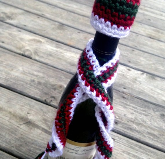 CROCHET PATTERN: Wine Bottle Hat & Scarf Cozy