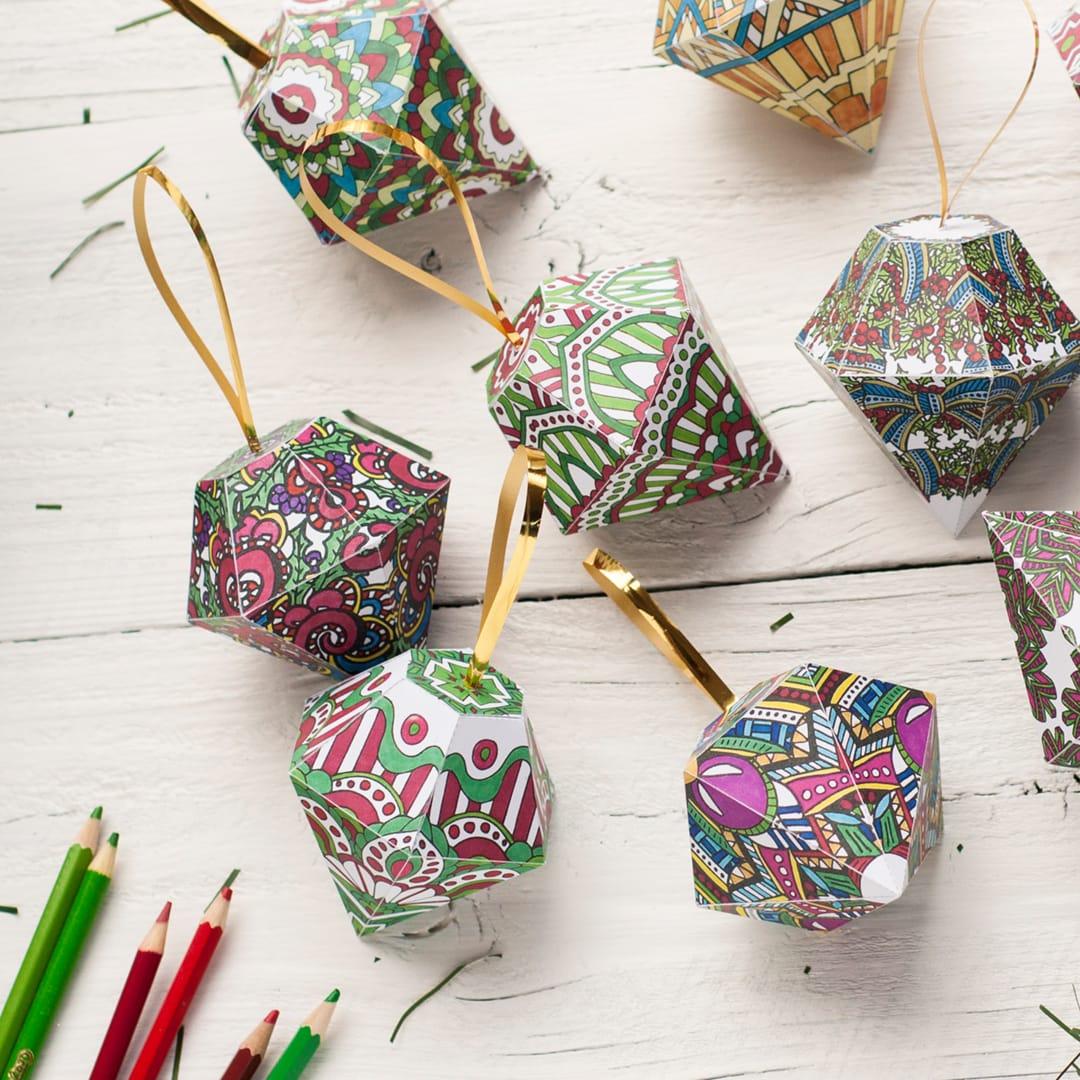 How To Make A Christmas Ornament Free Printable Template