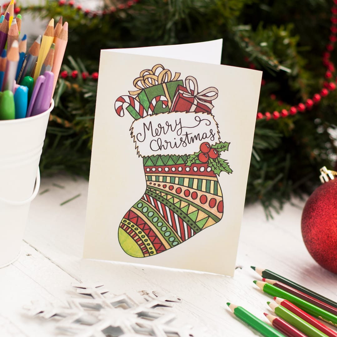 free printable christmas coloring card printable coloring template to create your own cute diy christmas