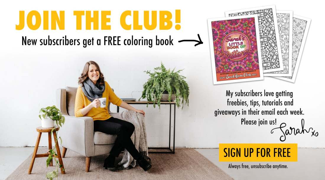 Get a free adult coloring book when you subscribe to email updates