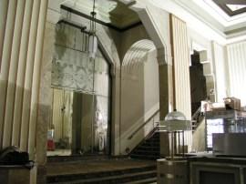 Lobby stairs to balcony