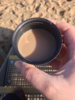 cup of tea on the beach