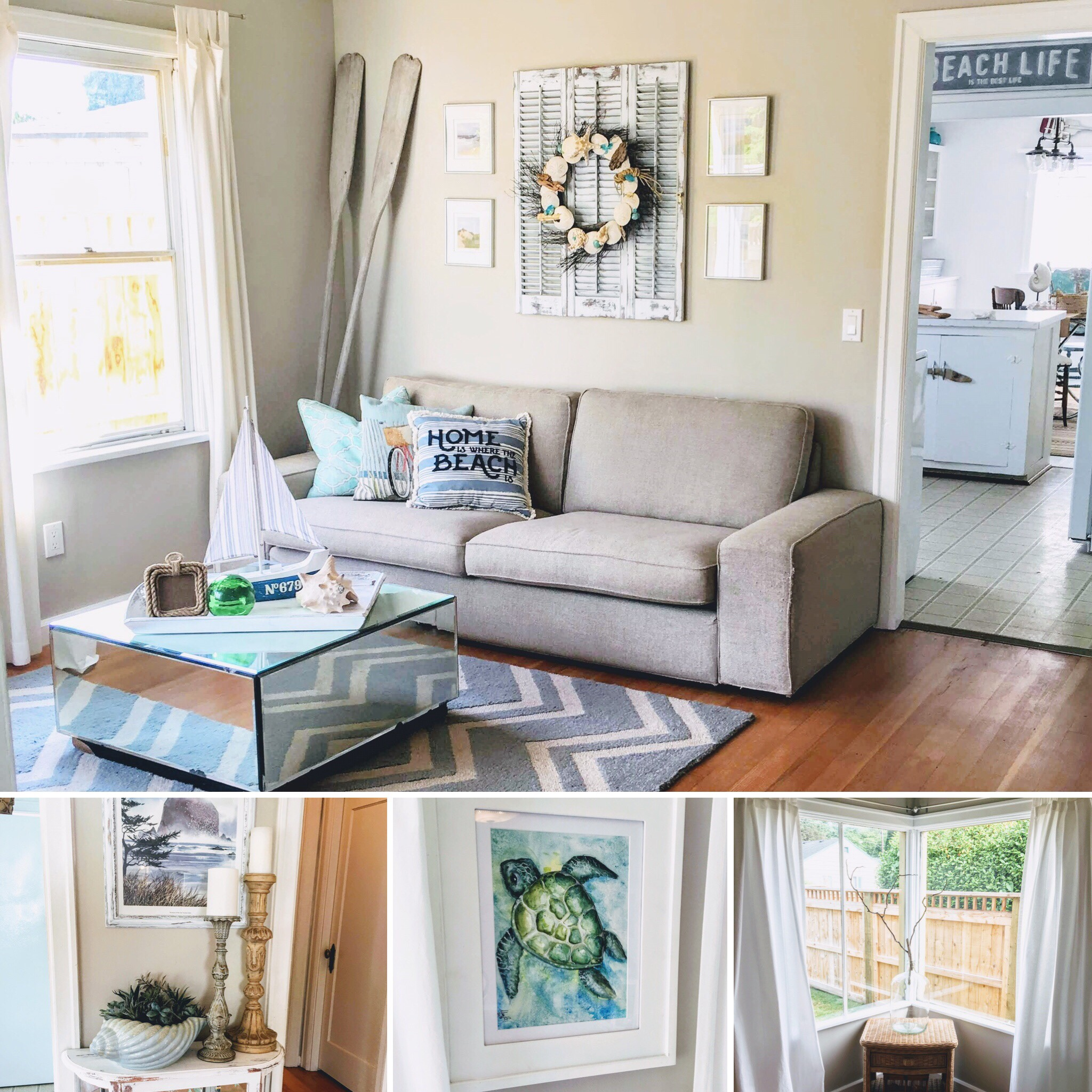 The Coastal Cottage Living Room Sarah S Abode