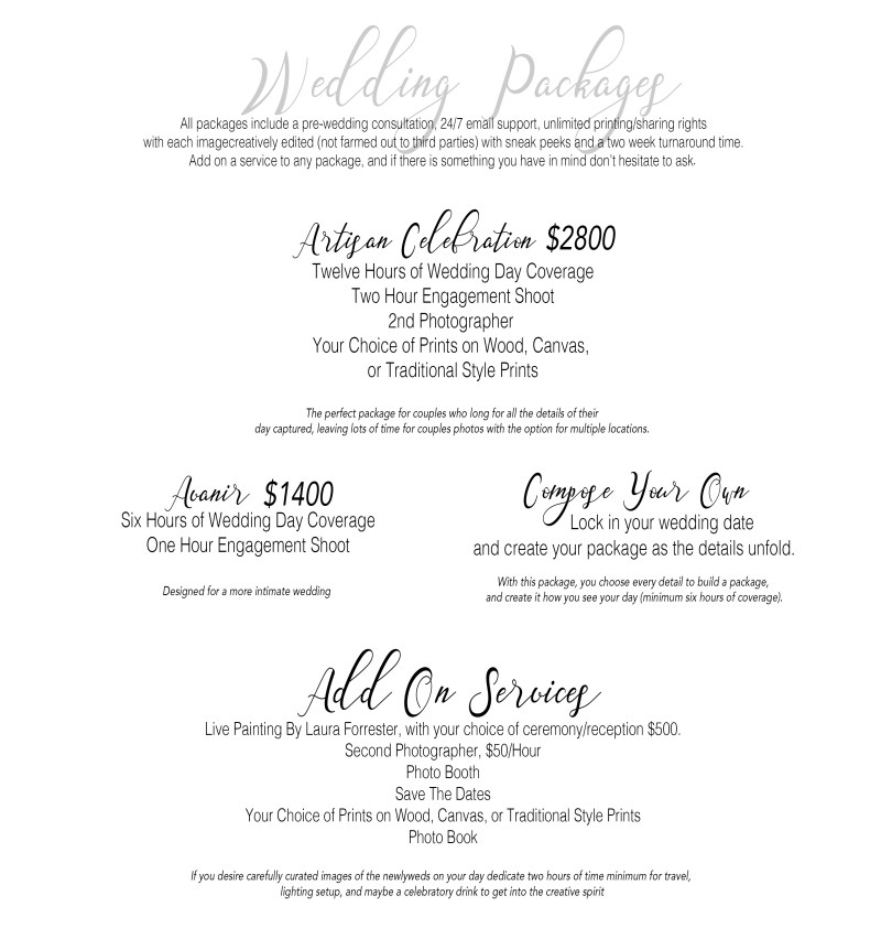WeddingPackages2019