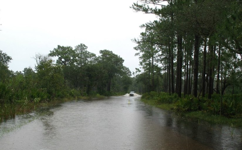 Life At The Park – We're Flooded  –  Water Is Finally Receding Slowly- Wednesday-  September 16, 2015