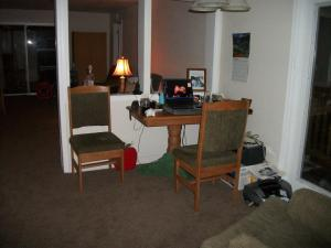 Early days In the House. This was the other room I use while we were living in the RV.