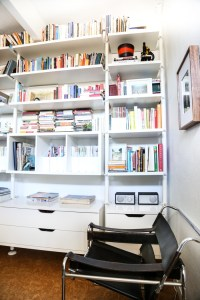I would love to have the spare room (JUNK ROOM) used as my compter room. With Cabinets and a desk. Books. A comfy chair.
