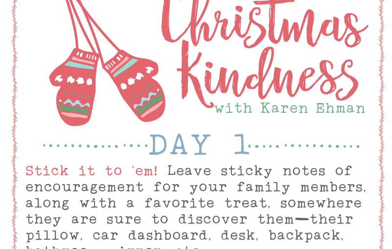 Karen Ehman — 12 Days of Christmas Kindness – Day One