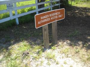 Ranger Residence Sign At our Entrance