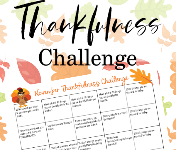Thankfulness Challenge From Year Round Homeschooling : From Sarah; Get Your Kids On Board