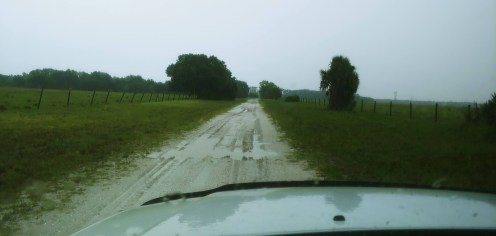 We had one day when it rain. We were so dry, that a few hours later, there was no sign of water.