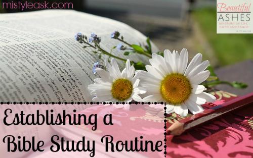 Establishing a Bible Study Routine – Beautiful Ashes