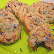 Chocolate Chip Cake Batter Cookies
