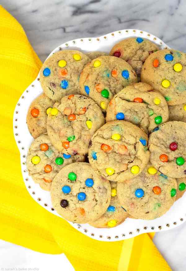 M&M Cookies - positively delightful, soft and chewy cookies, loaded with colorful mini M&M's candies.