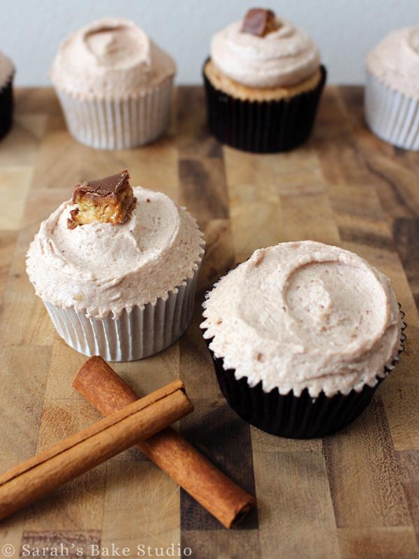 Snickerdoodle Cupcakes with Cinnamon Buttercream