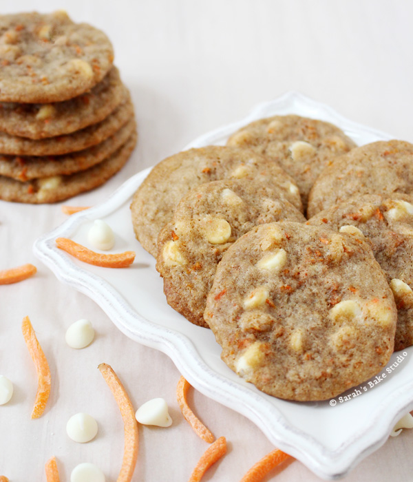 White Chocolate Carrot Cake Cookies