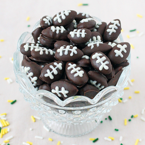 Dark Chocolate Football Almonds