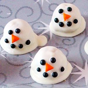 Snowman Cookie Dough Truffles