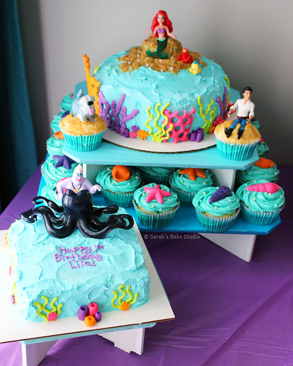 Little Mermaid Cakes and Cupcakes