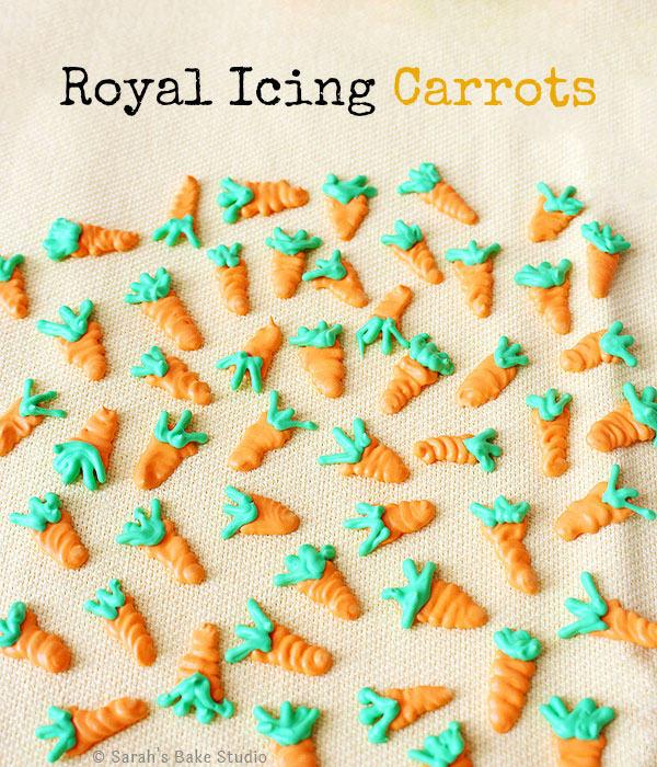 Royal Icing Carrots