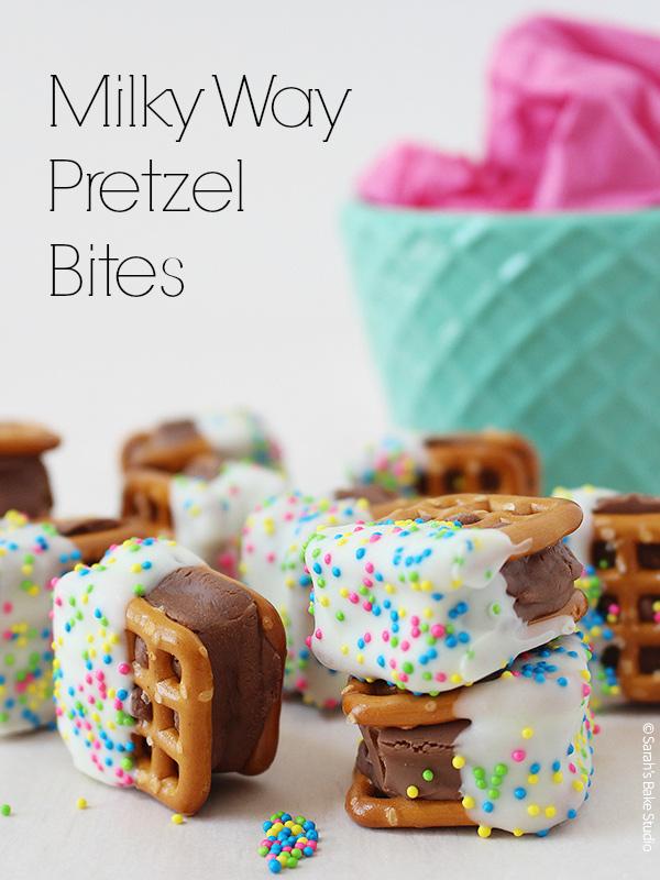 Milky Way Pretzel Bites
