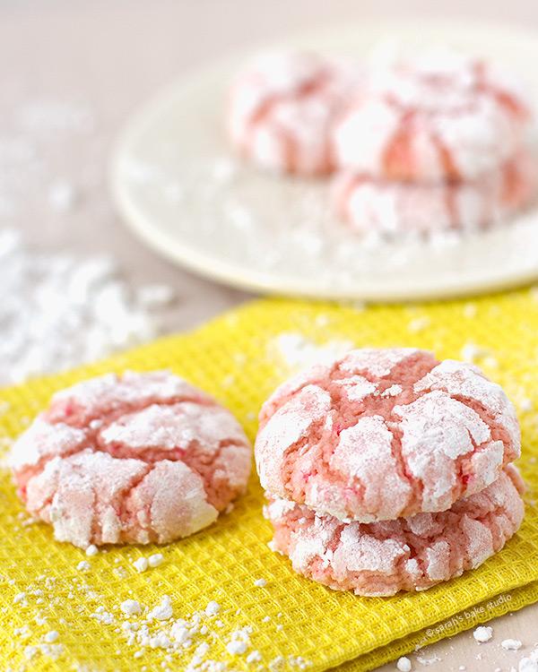 Pink Lemonade Crinkle Cookies